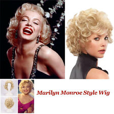 Marilyn Monroe Platinum Blonde Wig Siren Screen Star Hollywood Costume Hair