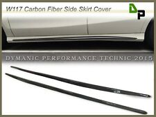 Carbon Fiber Add-on Side Skirt Cover For 13-16 M-BENZ W117 CLA180 CLA200 CLA250
