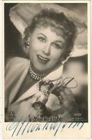 Marika Rökk, signierte Gloria-Ansichtskarte, original Autogramm