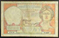 1926 Yugoslavia 10 Dinara Banknote, P-25.