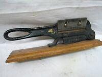 North Bros Tobacco Leaf Cutter Cigar Tool Chewing Cast Iron General Store Plug