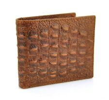 Men Vintage Genuine Leather Short Wallet Crocodile Alligator Card Holder Classic