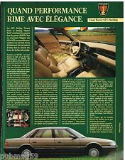 Publicité Advertising 1988 Rover 827i Sterling