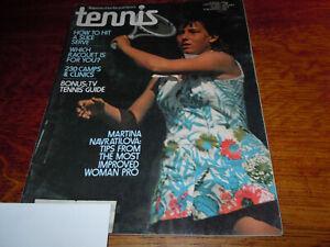 """VINTAGE """" TENNIS """" MAGAZINE - JANUARY 1976 - MARTINA NAVRATILOVA"""