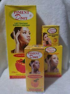 Original piment doux body lotion soap,serum & corrector fast action set of ( 4 )
