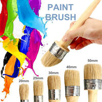 20-50MM Bristle Chalk Oil Painting Watercolor Wax Artist Paint Brush Wood Handle