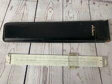 Vintage 1959 PICKETT Slide Rule Model No. 1010 T Trig with Black Leather Case