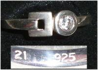 Ring aus 925er Silber mit Zirkonia,  Gr. 56, Ø 17,8 mm  (da3692)