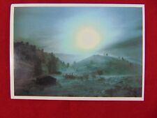 Vintage Original Winter Blizzard In Montana Uncirculated Postcard