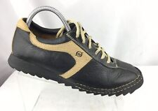 Born Mens Casual Shoes Size 9/42.5 Black Tan Leather Bicycle Toe Oxfords -B3455