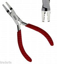 Doble Crimp crimping arrugador herramienta la cola del tigre la fabricación de joyas Mostacilla Molduras alicates
