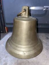 Vintage 7x 7 Tall Solid Brass Ships Bell W/stopper Loud