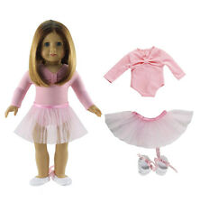 43516ab7b3 Hot Handmade Pink Doll Clothes Ballet Dress Fit for 18 Inch American Girl  Dolls