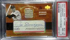 2005 Upper Deck Hall Of Fame Joe DiMaggio Signed Auto Card #CC-JD 1/5 PSA NM-MT