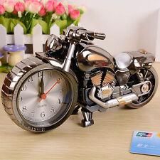 Motorcycle Cartoon Alarm Clock Home Decor Art Craft Creative Desktop Table Clock