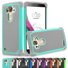 For LG G4 Black Impact Rugged Rubber Shockproof Hard Protective Case Cover Skin