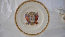 "1937 Coronation HRH KING EDWARD VIII  GRINDLEY CREAMPETAL 10"" ROUND PLATE"