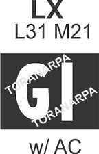 Engine Stencil, 'GI' Letters Suit Early LX L31/ M21 with A/C Torana