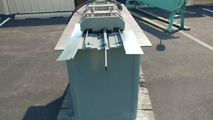 Lockformer Cleatformer Pittsburg machine 22 gauge capacity