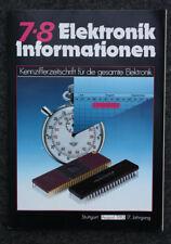 RARITÄT FÜR SAMMLER - ELEKTRONIK INFORMATIONEN 7-8 - ZEITSCHRIFT VON 1985