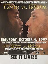 Original Vintage Lennox Lewis vs. Andrew Golota Boxing Fight Poster