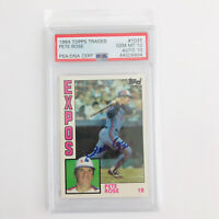PETE ROSE 1984 Topps Traded #104T Expos Signed AUTO 10 PSA 10 - RARE!
