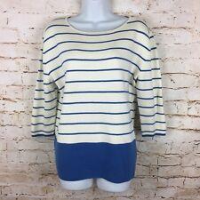 Joules jumper size 14 Marty blue white striped stripes Breton buttons Knitwear