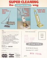 1960's SUPER CLEANING THE ELECTROLUX WAY UNUSED ADVERTISING COLOUR POSTCARD