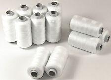 Hilo de coser blanco Rodillo 12 cada 500m Hilo Syngarn 100% Poliéster Costura