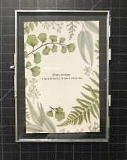 Floats Images 4 x 6 Pressed Glass Flower & Silver Folding Frame NWT New
