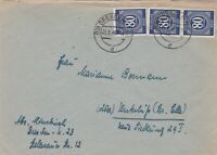 GER120) Allied Occupation Of Germany 1946 Value Stamp Dark Blue 80pfg