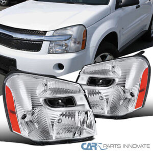 Fit 05-09 Chevy Equinox Clear Headlights Corner Lights Signal Lamps Left+Right