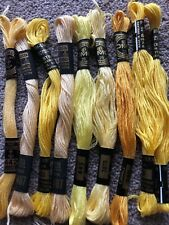 STRANDED COTTON EMBROIDERY THREADS YELLOW BUNDLE