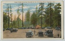1910-1920 Eagle Creek Camping Grounds Columbia River Hwy Auto Camping  Postcard