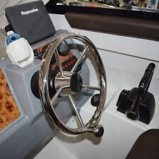 13-1/2'' Boat Steering Wheel Stainless 5 Spoke With Knob Heavy Duty Boat Amazing