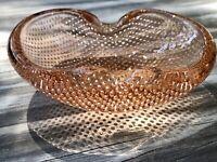 Murano Barovier ? 60er 70er Jahre Aschenbecher Schale Glas Rosa Blasen