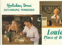 CB-240 TN, Gatlinburg Holiday Inn Hotel Chrome Postcard Multiview Louie's Dining