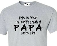 823256b3 Worlds Greatest Papa T Shirt Fathers Day Gift - 16 Colors Size SM - 6X