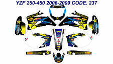 237 YAMAHA YZF 250 450 2006 2007 2008 2009 DECALS STICKERS GRAPHICS KIT