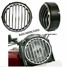 MP Head Light Grill Customize Black Chrome Plated For Royal Enfield