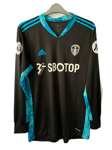 Leeds United Home Black Goalkeeper LS Jersey Shirt 2020 2021 Men Meslier 1 L