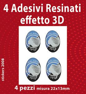 4 Adesivi 3D Resinati ATALANTA 22x13mm