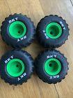 Grave Digger RC Monster Jam BKT Wheel Tire Front and Rear Set of 4 & screws