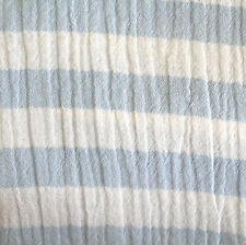 Fabric Muslin Gauze Light Blue Striped Cotton Kid's Fabric Ökotex
