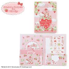 Hello Kitty × Strawberry Shortcake Case Cased Letter Set Sanrio Kawaii Cute F/S