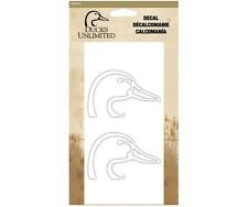 DUCKS UNLIMITED WHITE LOGO DECAL - 2 PACK, CAR, TRUCK, AUTO, WINDOW