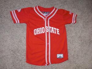 OHIO STATE BUCKEYES sewn Baseball style Jersey youth Medium