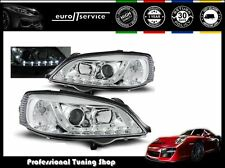 FARI ANTERIORI HEADLIGHTS LPOP37 OPEL ASTRA G 1997- 2002 2003 2004 DAYLIGHT LED
