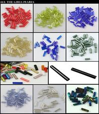 *CLEARANCE* Seed Bugle Beads AB Colour, Twist, Long. Choose style and colour.