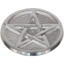 "Silver Metal Pentagram (4"") Incense Holder - Perfect for your Sacred Space"